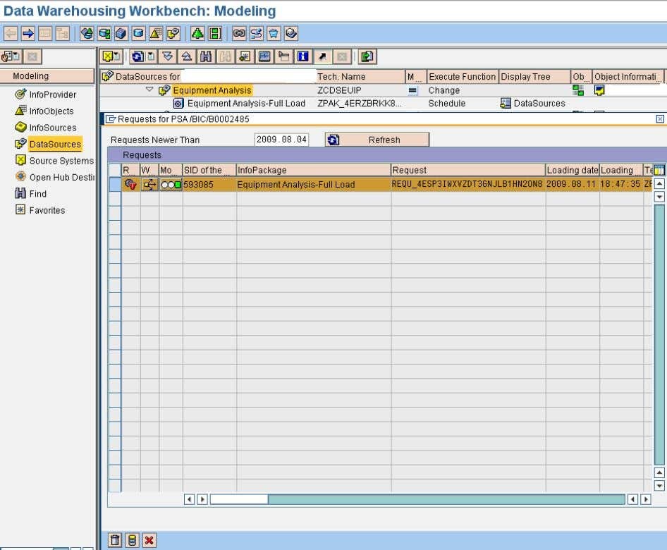 from the PSA and Change Log Tables in Business Intelligence We can also delete requests in
