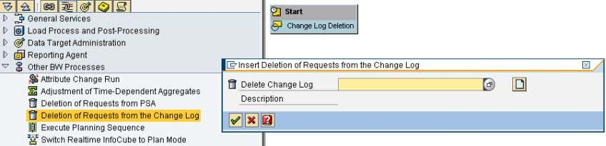 process type Deletion of Requests from the Change Log from ) In the next dialog box,