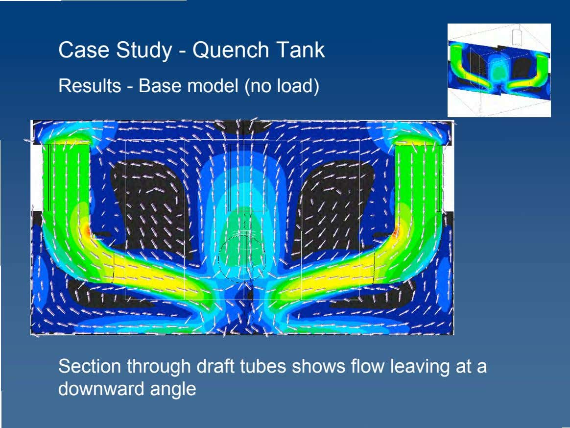 Case Study - Quench Tank Results - Base model (no load) Section through draft tubes