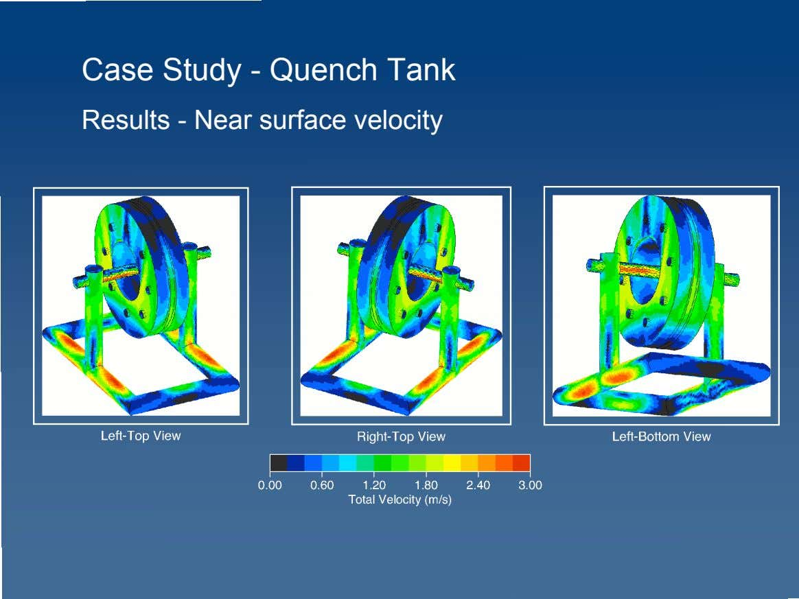 Case Study - Quench Tank Results - Near surface velocity