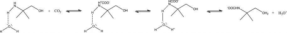 and a water molecule prior to its reaction with CO 2 : (I) In the above