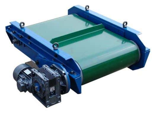 Plate magnet Positioned above conveyors to prevent foreign bodies being introduced to grinders, screws and other