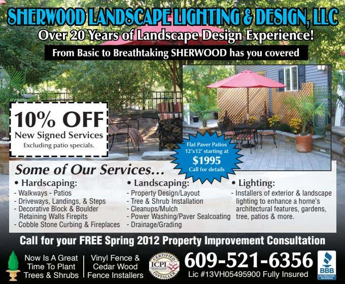 10% OFF New Signed Services Excluding patio specials. Flat Paver Patios 12'x12' starting at $1995