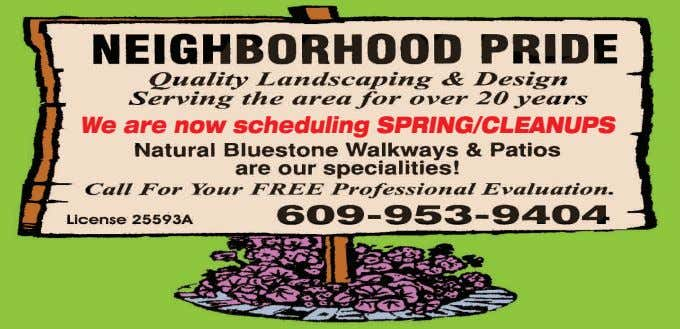 We are now scheduling SPRING/CLEANUPS