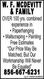 Painting Quality work at Reasonable Price (609) 320-9717 Painting for Four Generations MATT NOBLE Inc. Specializing