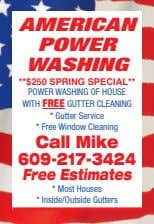 AMERICAN POWER WASHING POWER WASHING OF HOUSE WITH FREE GUTTER CLEANING * Gutter Service *