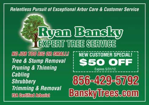 NEW CUSTOMER SPECIAL! $50 OFF Expires 5/31/12.