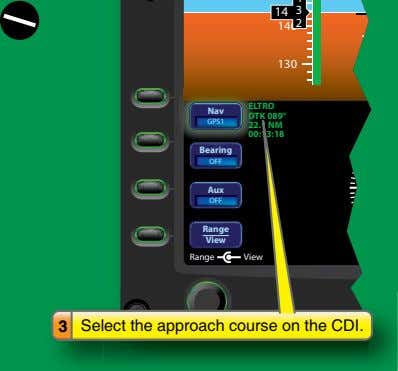 3 Select the approach course on the CDI.