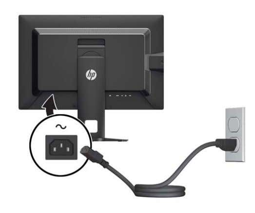 monitor, and the other end to an electrical wall outlet. WARNING! Do not disable the power