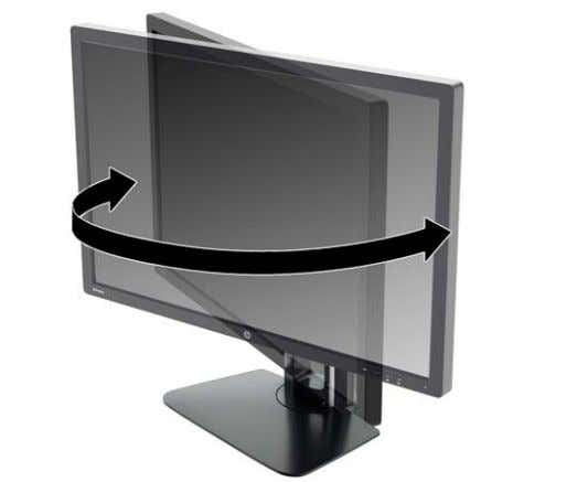 comfortable eye level. 2. Swivel the monitor to the left or right for the best viewing