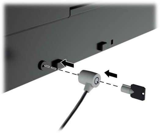 fixed object with an optional cable lock available from HP. Power Saving Features The monitors support