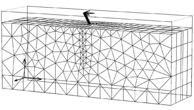 39 Figure 19. Mesh of 3D analysis of the horizontal pile test horizontally loaded at the