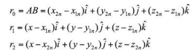 velocity induced by the bound vortex segment at point C are given by the following expressions: