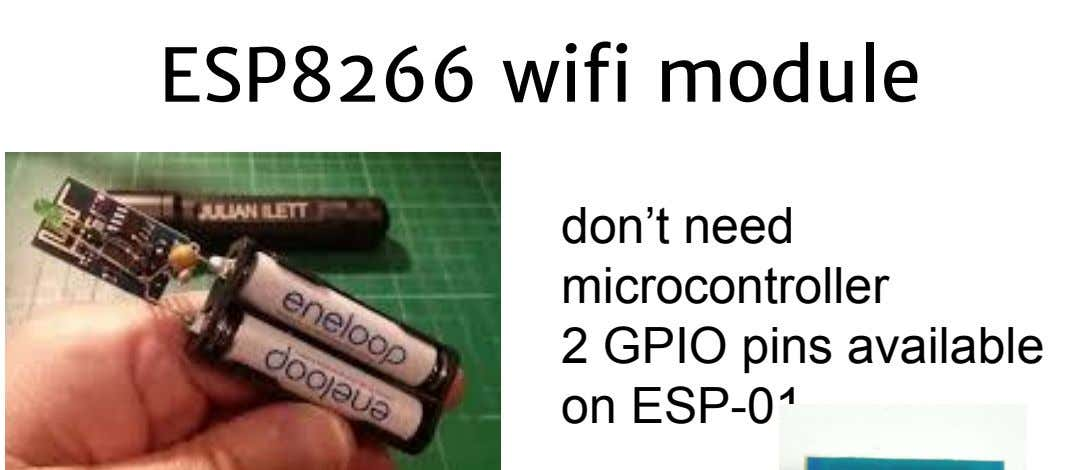 ESP8266 wifi module don't need microcontroller 2 GPIO pins available on ESP-01