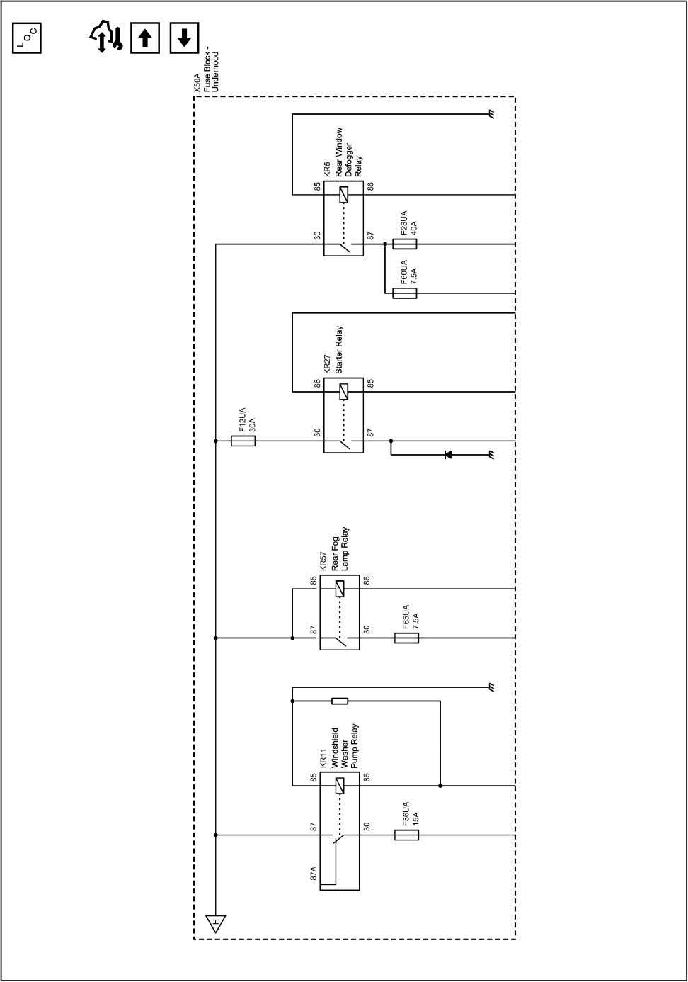 Systems and Power Management 11-53 2203078 Power Distribution Schematics (B+ Bus UEC (6 of 6)) 2010