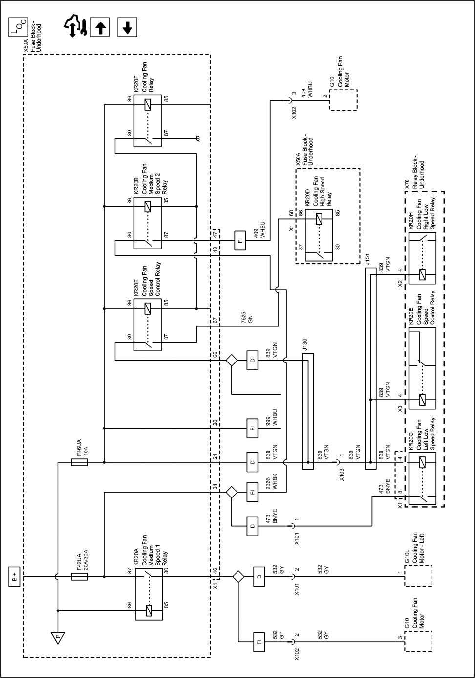 Systems and Power Management 2203136 Power Distribution Schematics (F42UA and F46UA Fuses) 2010 - Cruze Service
