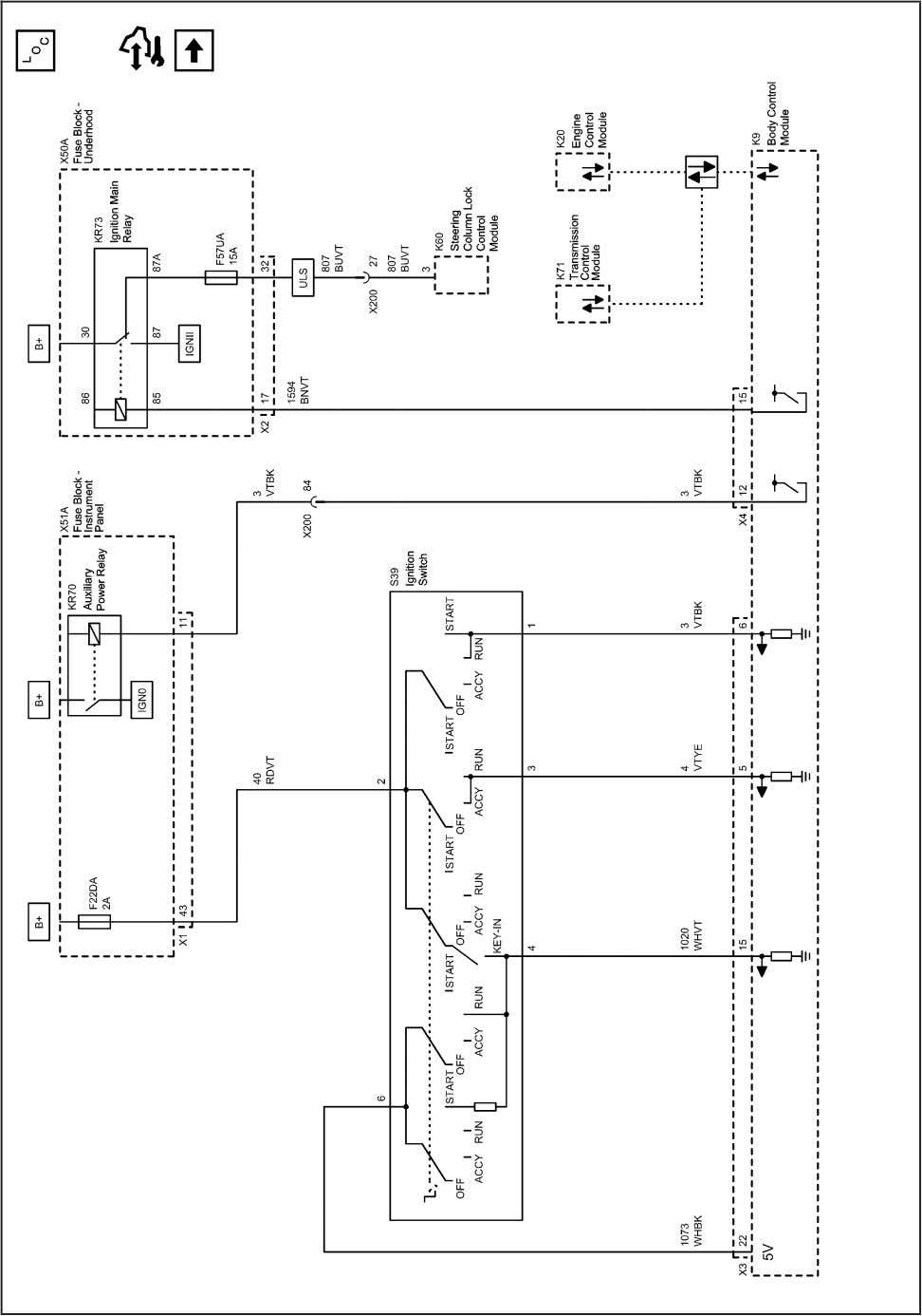 Systems and Power Management 2203154 Power Moding Schematics (Ignition Switch (without ATH)) 2010 - Cruze Service