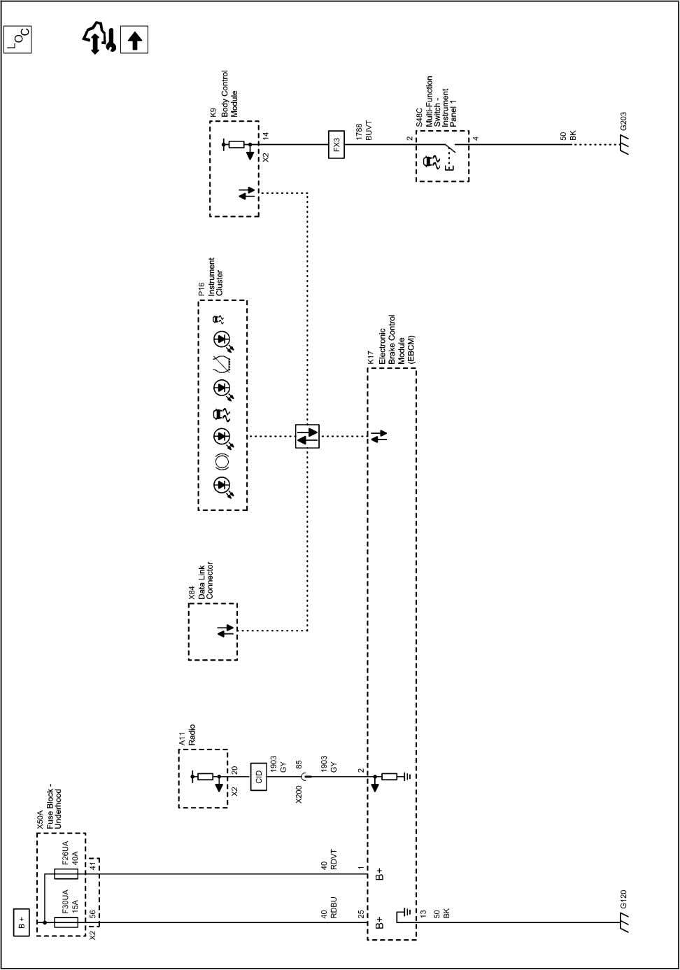 Antilock Brake System 2202857 Antilock Brake System Schematics (Power, Ground and Serial Data) 2010 - Cruze