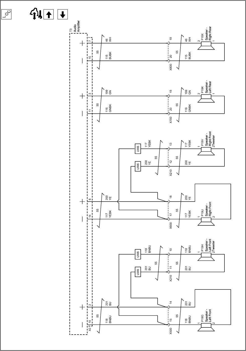 and Navigation 2202872 Radio/Navigation System Schematics (Door Speakers (LHD with UQG)) 2010 - Cruze Service Manual