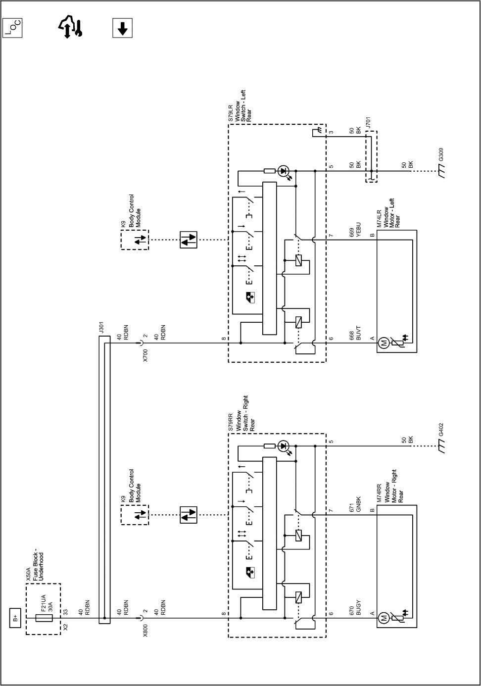and Moveable Windows 4-7 2202804 Moveable Window Schematics (Power Windows, Rear Doors (AEQ)) 2010 - Cruze