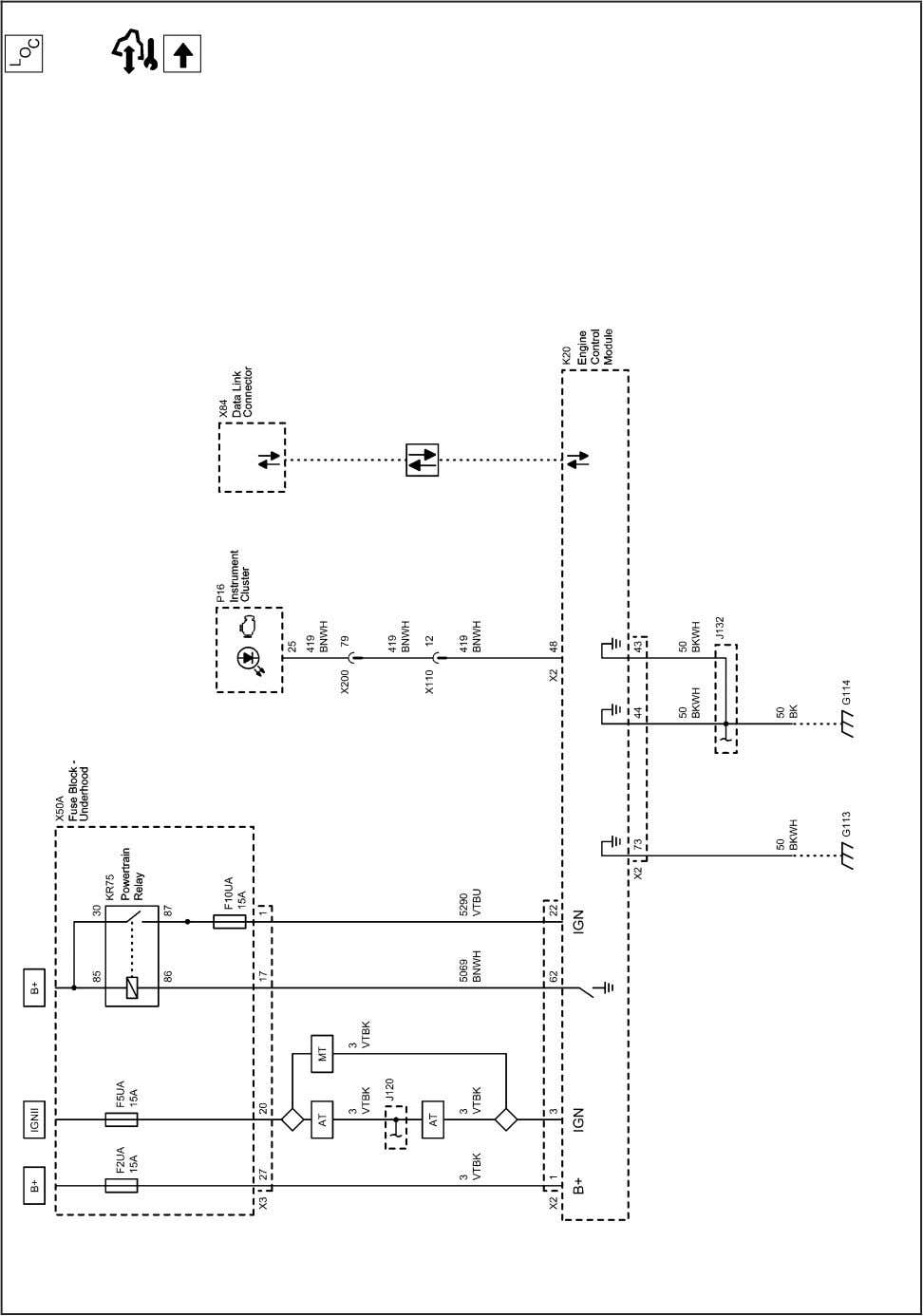 and Fuel - 1.6L (LXT) 2203073 Engine Controls Schematics (Power, Ground, Serial Data and MIL) 2010