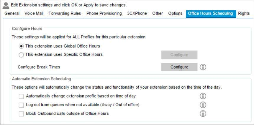 hoursorspecificofficehours. OfficeHoursSchedulingtab ConfigureHours