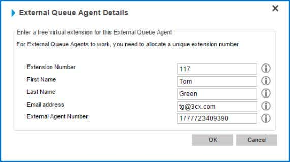 be. AddinganExternalAgenttoaQueue AddinganExternalAgent 3CX Phone System also allows you to