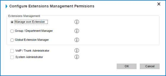 "2. Clickthe ​ ""ConfigurePermissions"" ​ button. 3. Fromthedialogwindowchoose ​ ""ManageownExtension"""