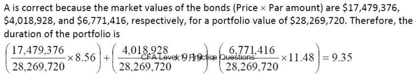 CFA Level 1 Practice Questions for Fixed Income Investments 73. The spread between the yields on