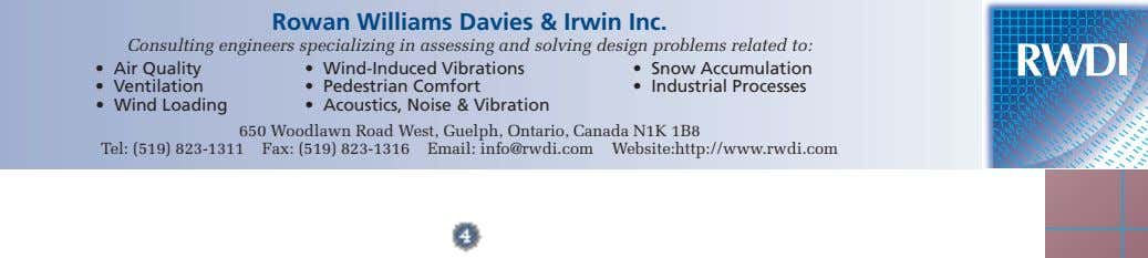 Rowan Williams Davies & Irwin Inc. Consulting engineers specializing in assessing and solving design problems