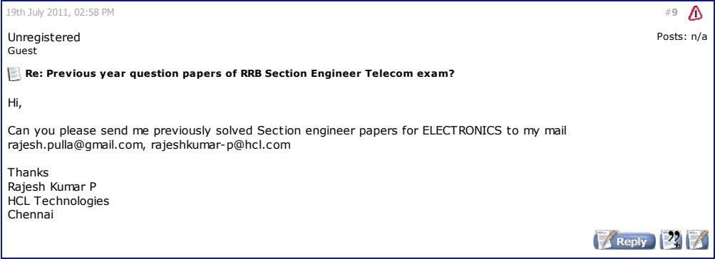 19th July 2011, 02:58 PM #9 Unregistered Posts: n/a Guest Re: Previous year question papers