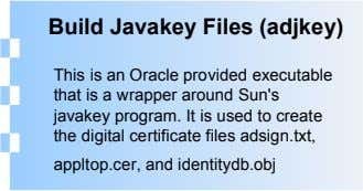 Build Javakey Files (adjkey) This is an Oracle provided executable that is a wrapper around Sun's