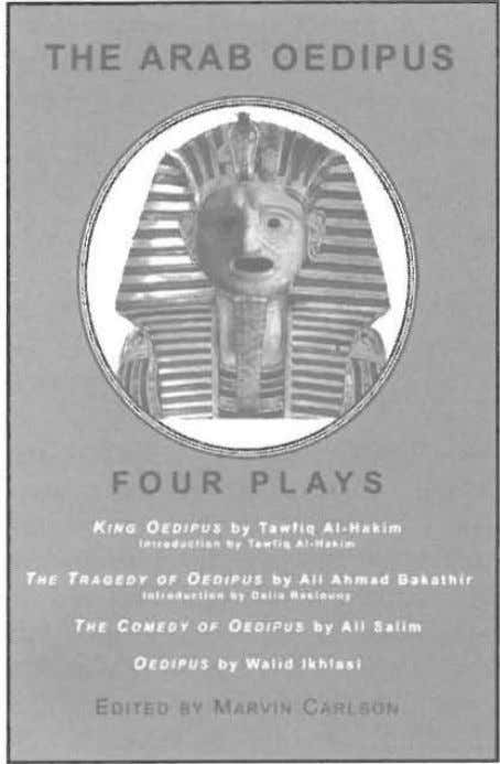 THE ARAB OEDIPUS FOUR PLAYS