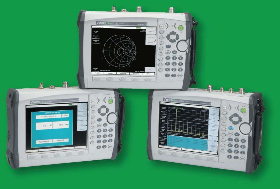 Master MS2024A/MS2026A and MS2034A/MS2036A Vector Network Analyzer 2 MHz to 6 GHz Spectrum Analyzer 9 kHz