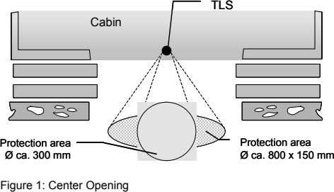 TLS TLS Cabin Cabin Protection area Protection area Protection area Protection area Ø Ø ca.
