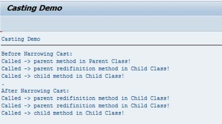 Now I am interested in parent(super) class method in my child(sub) class. Which mean when