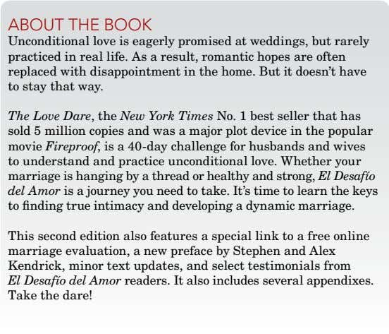 about thE book unconditional love is eagerly promised at weddings, but rarely practiced in real