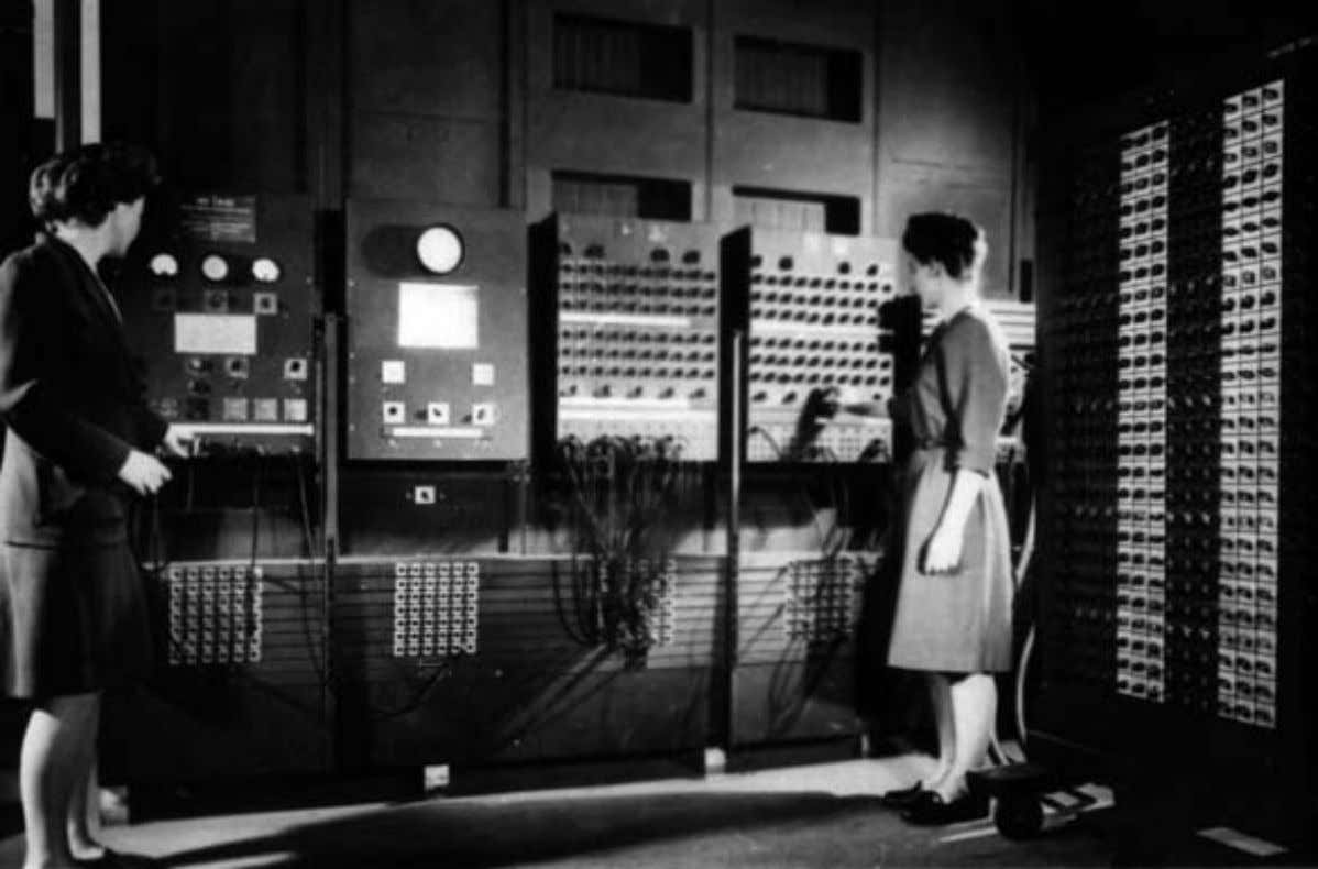 machine Thinking about C in terms of Logistics Goodbye Figure: Women operating the ENIAC. Eunsuk Kang