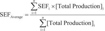 sectoral emissions From Equation (2.7), weighted average, SEF Average = SEF F a c t o