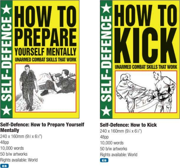 Self-Defence: How to Prepare Yourself Mentally Self-Defence: How to Kick 240 x 160mm (9 1