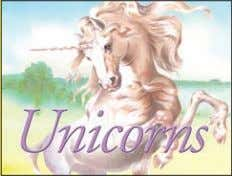 a/ws 20,000 words Rights available: World ex Bu, Ca, US EB Unicorns 213 x 290mm (8