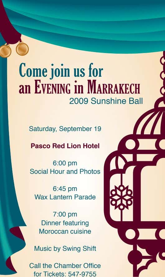 Come join us for an E v E ning in M arrak E ch 2009