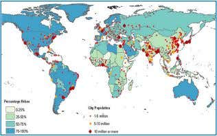 was urbanized •   3 10M-person cities 9 2009 •   50% of the world population