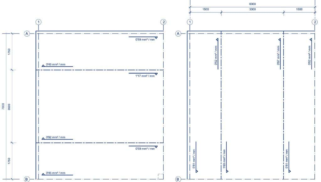 2011 Design reinforcement DETAILING OF SLAB AB12 - CASE 1 44 Structural analysis → Bending moments