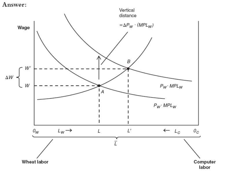 Vidit Dhawan d. Reproduce Figure 3-4 with the amount of labor used in wheat measuring from