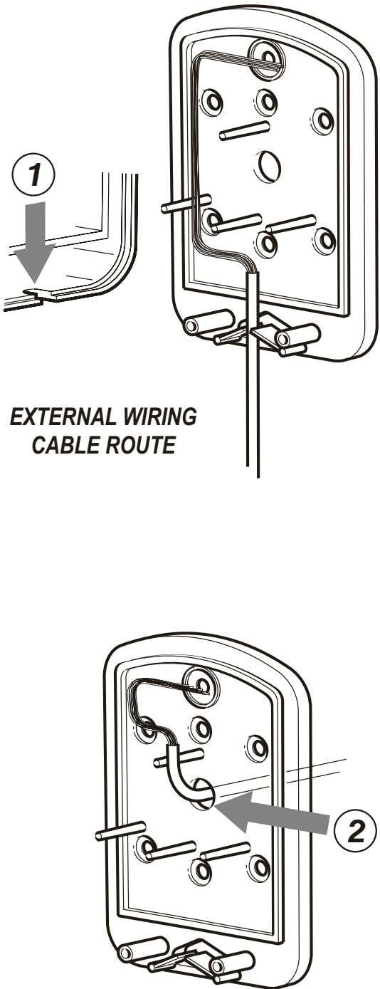 1 EXTERNAL WIRING CABLE ROUTE 2