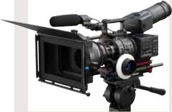 operation. E-mount lens on the NEX-FS700 A-mount lens with the LA-EA2 adaptor Another lens with a