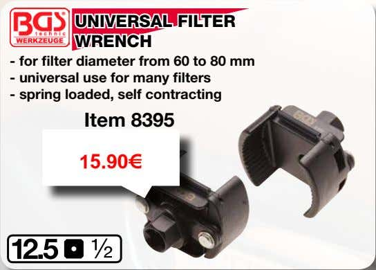 UNIVERSAL FILTER WRENCH - for filter diameter from 60 to 80 mm - universal use