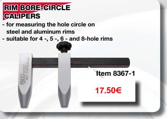 for 4 -, 5 -, 6 - and 8-hole rims Item 8367-1 17.50€ RIM LOCK DISMANTLING