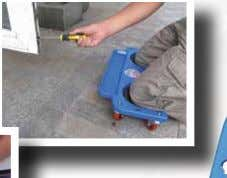 - 5 castors for high stability - padded knee rest - with storageplate and carry handle